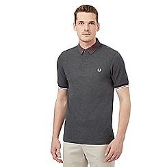 Fred Perry - Dark grey logo polo shirt
