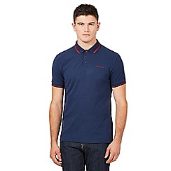 Ben Sherman - Big and tall navy logo polo shirt
