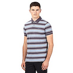 Ben Sherman - Grey striped logo polo shirt