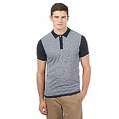 Ben Sherman - Navy grindle knit polo shirt