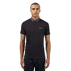 Ben Sherman - Big and tall black spot polo top