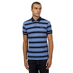 Ben Sherman - Big and tall navy striped polo shirt