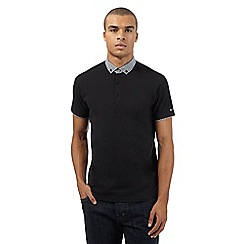 Ben Sherman - Big and tall black checked polo top