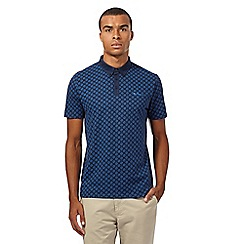 Ben Sherman - Big and tall navy target print polo shirt
