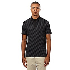 Ben Sherman - Big and tall black target print polo shirt