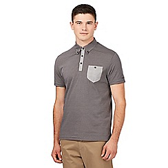 Ben Sherman - Big and tall grey striped polo shirt