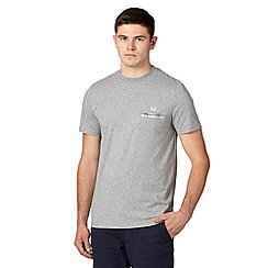 Fred Perry - Grey woven pocket regular fit t-shirt