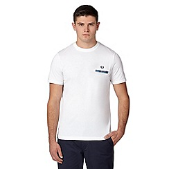 Fred Perry - White woven pocket regular fit t-shirt