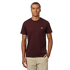 Fred Perry - Maroon embroidered logo crew neck t-shirt