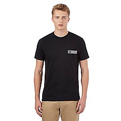 Fred Perry - Black gingham pocket t-shirt