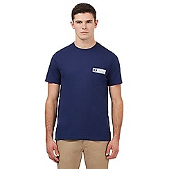 Fred Perry - Blue Oxford trim t-shirt