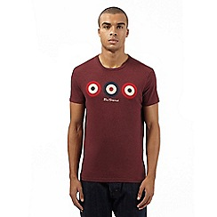 BEN SHERMAN - Dark red target design top