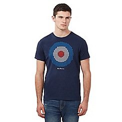 Ben Sherman - Big and tall navy pixel target t-shirt