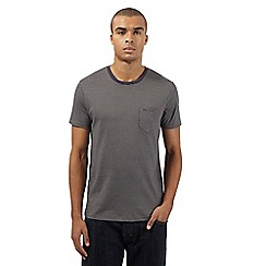 Ben Sherman - Big and tall grey tonal striped t-shirt