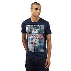 Ben Sherman - Big and tall navy music '63' print t-shirt
