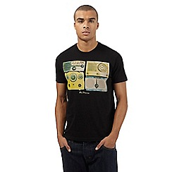 Ben Sherman - Big and tall black vintage radio print t-shirt