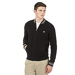 Fred Perry - Black knitted bomber jacket