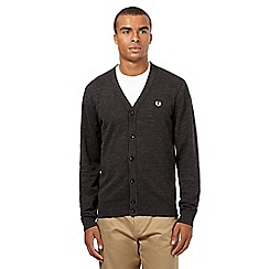 Fred Perry - Grey knitted logo cardigan