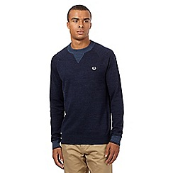 Fred Perry - Navy logo jumper
