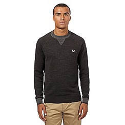 Fred Perry - Grey logo jumper