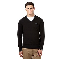 Ben Sherman - Black tipped V neck jumper
