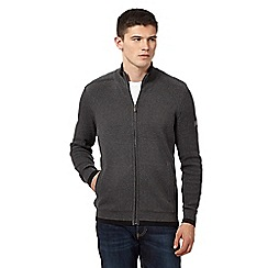 Ben Sherman - Grey tipped zip through sweatshirt