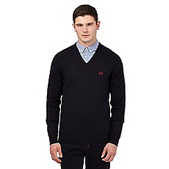 Fred Perry - Navy V neck jumper