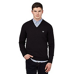 Fred Perry - Black V neck jumper