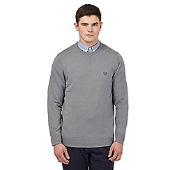 Fred Perry - Grey crew neck jumper