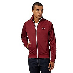 Fred Perry - Dark red 'Laurel' tape regular fit track jacket