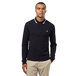 Fred Perry - Navy twin tipped slim fit polo top