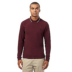 Fred Perry - Maroon twin tipped slim fit polo top