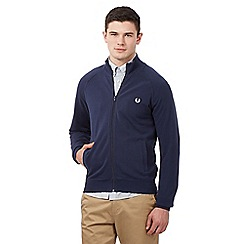 Fred Perry - Blue pique zip through sweater