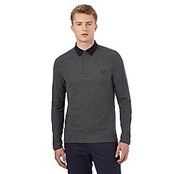 Fred Perry - Grey long sleeved polo top