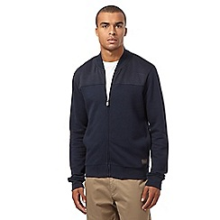 BEN SHERMAN - Navy quilted baseball jacket
