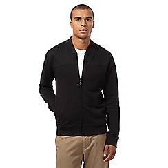 Ben Sherman - Big and tall black quilted baseball jacket