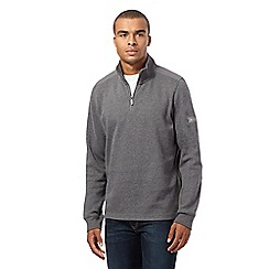 Ben Sherman - Big and tall grey french ribbed sweatshirt