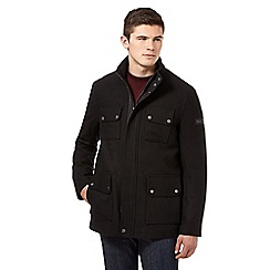 Ben Sherman - Big and tall black quilted high neck jacket