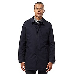 Ben Sherman - Big and tall navy quilted mac coat