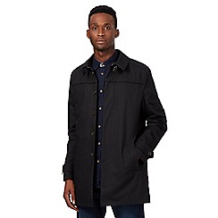 Ben Sherman - Big and tall black button mac jacket