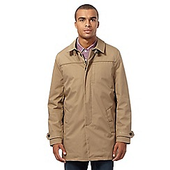 Ben Sherman - Big and tall beige quilted mac coat