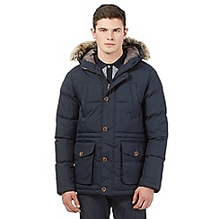 Ben Sherman - Big and tall navy padded parka jacket