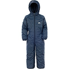 Trespass - Navy dripdrop rain suit