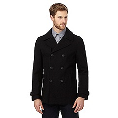 Rhino Rugby - Black wool-blend coat