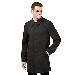 Rhino Rugby - Grey dogtooth wool-blend mac coat