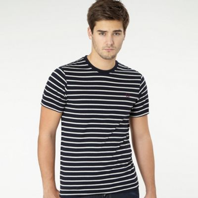 Fred Perry Navy fine stripe t-shirt