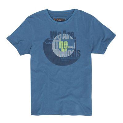 Light blue music motif t-shirt