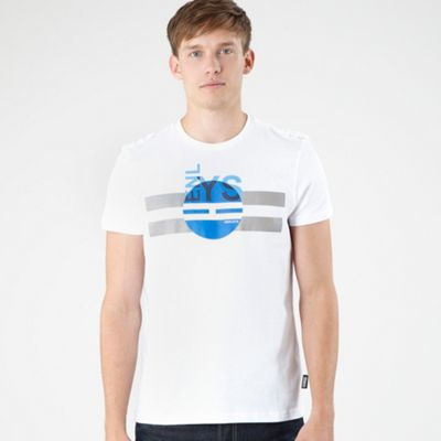 White Logo Printed T-shirt