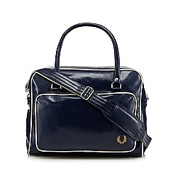 Fred Perry - Navy large logo holdall bag