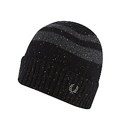 Fred Perry - Black tipped beanie hat
